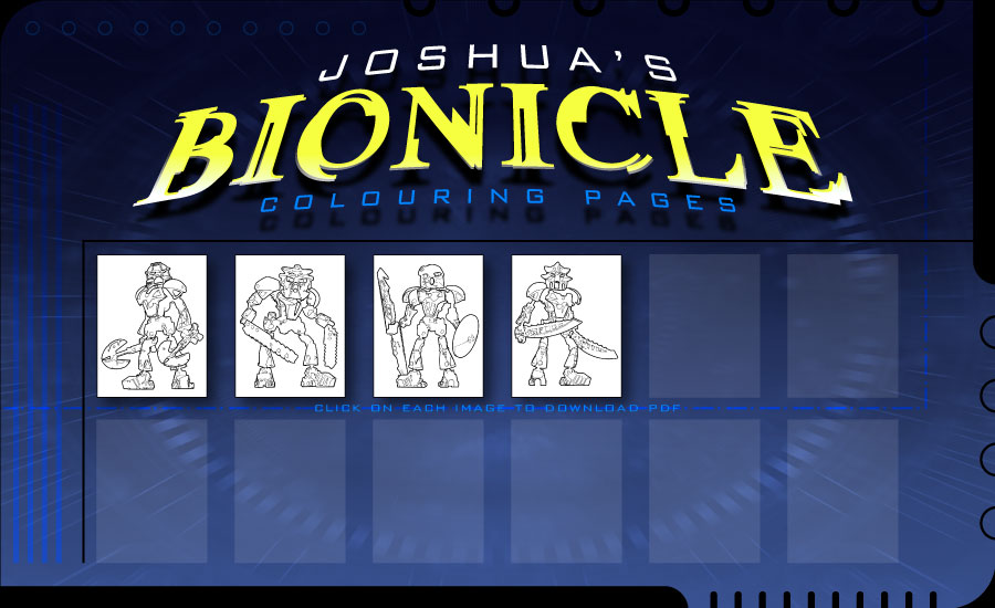 joshua s bionicle colouring pages